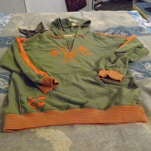Nike Miami U Pullover Hoodie Olive St Size L